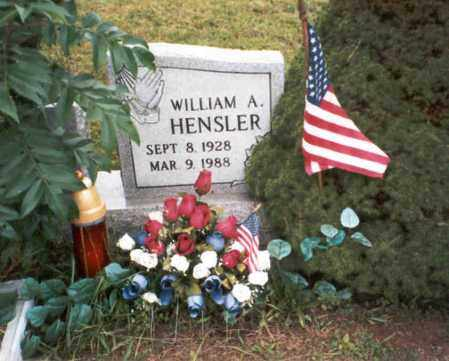 HENSLER, WILLIAM A. - Vinton County, Ohio | WILLIAM A. HENSLER - Ohio Gravestone Photos