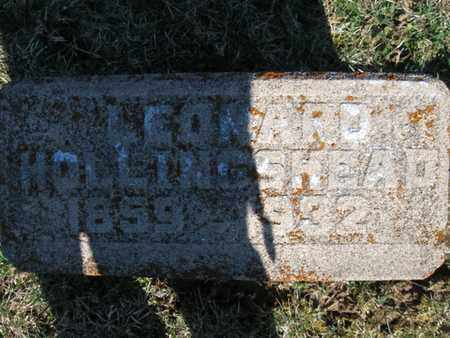 HOLLINGSHEAD, LEONARD - Vinton County, Ohio | LEONARD HOLLINGSHEAD - Ohio Gravestone Photos