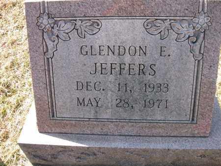 JEFFERS, GLENDON ELLSWORTH - Vinton County, Ohio | GLENDON ELLSWORTH JEFFERS - Ohio Gravestone Photos