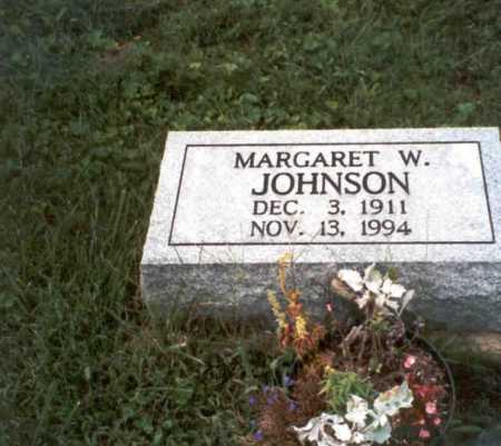 WRIGHTSEL JOHNSON, MARGARET W. - Vinton County, Ohio | MARGARET W. WRIGHTSEL JOHNSON - Ohio Gravestone Photos