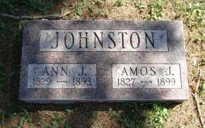 JOHNSTON, AMOS J. - Vinton County, Ohio | AMOS J. JOHNSTON - Ohio Gravestone Photos
