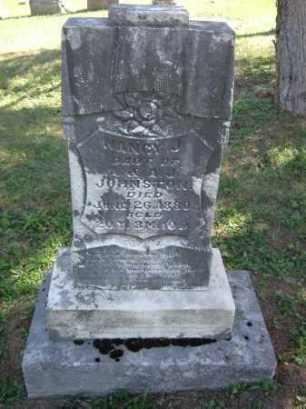 JOHNSTON, NANCY J - Vinton County, Ohio   NANCY J JOHNSTON - Ohio Gravestone Photos
