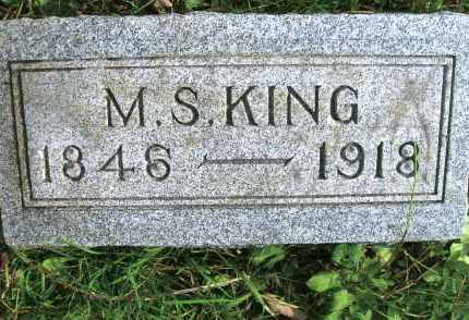 KING, M.S. - Vinton County, Ohio | M.S. KING - Ohio Gravestone Photos