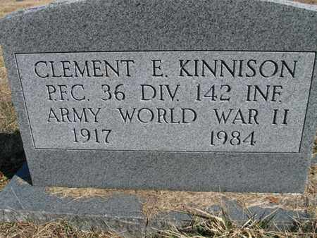 KINNISON, CLEMENT ELDON - Vinton County, Ohio | CLEMENT ELDON KINNISON - Ohio Gravestone Photos