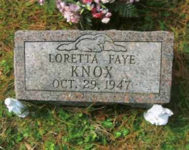 KNOX, LORETTA FAYE - Vinton County, Ohio | LORETTA FAYE KNOX - Ohio Gravestone Photos