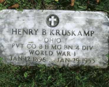 KRUSKAMP, HENRY BRADLEY - Vinton County, Ohio | HENRY BRADLEY KRUSKAMP - Ohio Gravestone Photos