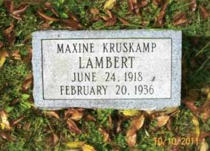 KRUSKAMP LAMBERT, MAXINE - Vinton County, Ohio | MAXINE KRUSKAMP LAMBERT - Ohio Gravestone Photos