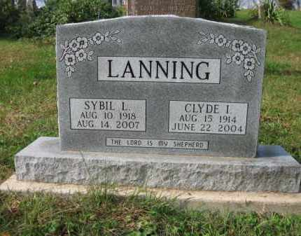 LANNING, CLYDE I. - Vinton County, Ohio | CLYDE I. LANNING - Ohio Gravestone Photos