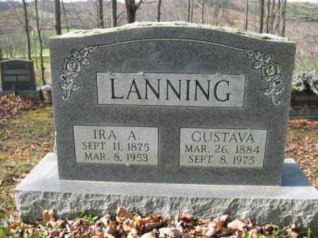 HILL LANNING, GUSTAVA - Vinton County, Ohio | GUSTAVA HILL LANNING - Ohio Gravestone Photos