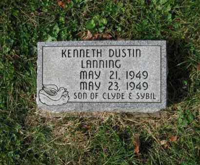 LANNING, KENNETH DUSTIN - Vinton County, Ohio | KENNETH DUSTIN LANNING - Ohio Gravestone Photos