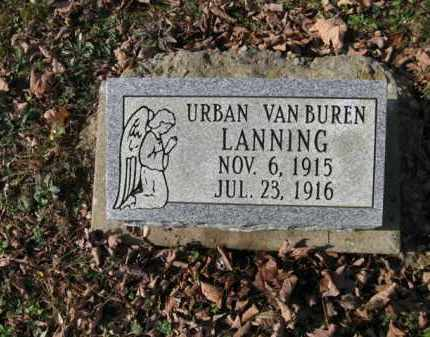 LANNING, URBAN VANBUREN - Vinton County, Ohio | URBAN VANBUREN LANNING - Ohio Gravestone Photos