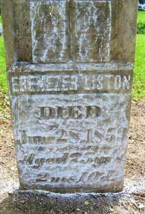 LISTON, EBENEZER - Vinton County, Ohio | EBENEZER LISTON - Ohio Gravestone Photos