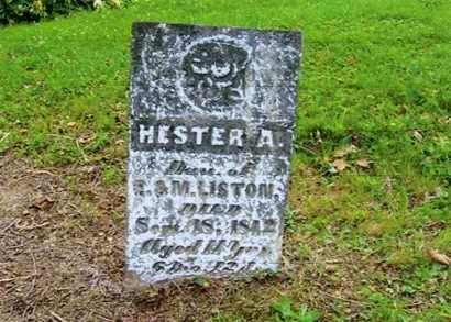 LISTON, HESTER A. - Vinton County, Ohio | HESTER A. LISTON - Ohio Gravestone Photos