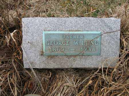 LONG, GEORGE W. - Vinton County, Ohio   GEORGE W. LONG - Ohio Gravestone Photos
