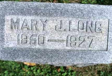 LONG, MARY J. - Vinton County, Ohio | MARY J. LONG - Ohio Gravestone Photos