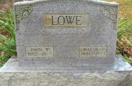 LOWE, MATTIE J. - Vinton County, Ohio | MATTIE J. LOWE - Ohio Gravestone Photos