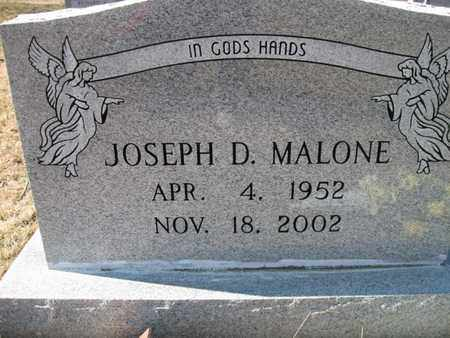 MALONE, JOSEPH DAVID - Vinton County, Ohio | JOSEPH DAVID MALONE - Ohio Gravestone Photos