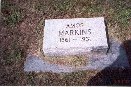 MARKINS, AMOS - Vinton County, Ohio | AMOS MARKINS - Ohio Gravestone Photos
