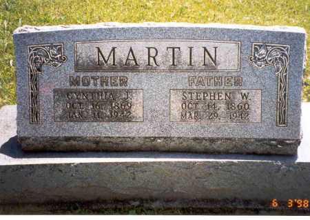 MARTIN, CYNTHIA J. - Vinton County, Ohio | CYNTHIA J. MARTIN - Ohio Gravestone Photos