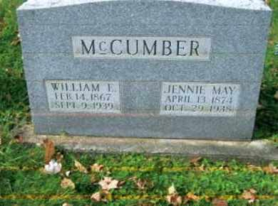 MCCUMBER, JENNIE MAY - Vinton County, Ohio | JENNIE MAY MCCUMBER - Ohio Gravestone Photos