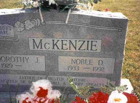 MCKENZIE, NOBLE - Vinton County, Ohio | NOBLE MCKENZIE - Ohio Gravestone Photos