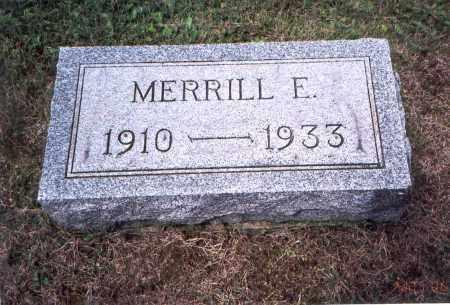 MCLAUGHLIN, MERRILL ELWOOD - Vinton County, Ohio | MERRILL ELWOOD MCLAUGHLIN - Ohio Gravestone Photos