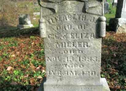 MILLER, ELIZABETH J. - Vinton County, Ohio | ELIZABETH J. MILLER - Ohio Gravestone Photos