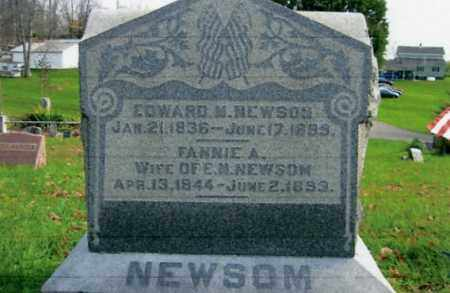 NEWSOM, EDWARD M. - Vinton County, Ohio | EDWARD M. NEWSOM - Ohio Gravestone Photos