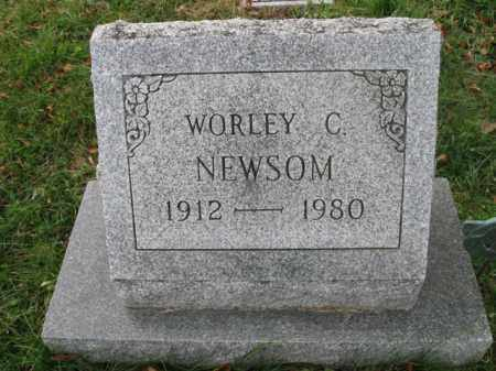 NEWSOM, WORLEY C. - Vinton County, Ohio | WORLEY C. NEWSOM - Ohio Gravestone Photos