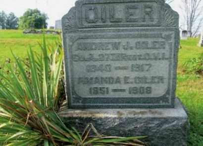 OILER, ANDREW J. - Vinton County, Ohio | ANDREW J. OILER - Ohio Gravestone Photos