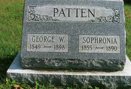 PATTEN, GEORGE W. - Vinton County, Ohio | GEORGE W. PATTEN - Ohio Gravestone Photos