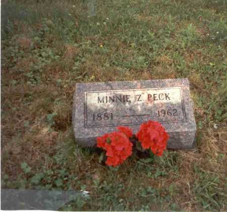 PECK, MINNIE Z. - Vinton County, Ohio | MINNIE Z. PECK - Ohio Gravestone Photos