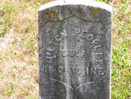 PEOPLES, MILTON - Vinton County, Ohio | MILTON PEOPLES - Ohio Gravestone Photos