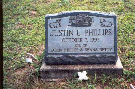 PHILLIPS, JUSTIN L. - Vinton County, Ohio | JUSTIN L. PHILLIPS - Ohio Gravestone Photos
