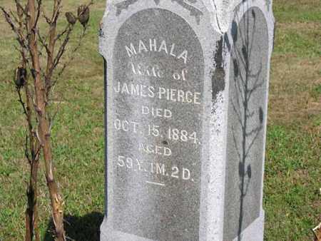 PIERCE, MAHALA - Vinton County, Ohio | MAHALA PIERCE - Ohio Gravestone Photos