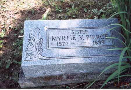 PIERCE, MYRTIE V. - Vinton County, Ohio | MYRTIE V. PIERCE - Ohio Gravestone Photos