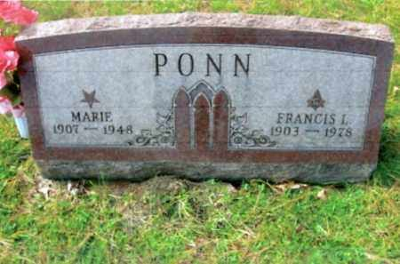 REED PONN, MARIE - Vinton County, Ohio | MARIE REED PONN - Ohio Gravestone Photos