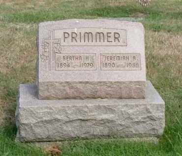 PRIMMER, BERTHA H. - Vinton County, Ohio | BERTHA H. PRIMMER - Ohio Gravestone Photos