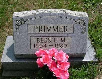 PRIMMER, BESSIE M. - Vinton County, Ohio | BESSIE M. PRIMMER - Ohio Gravestone Photos