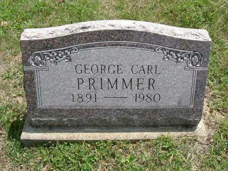 PRIMMER, GEORGE CARL - Vinton County, Ohio | GEORGE CARL PRIMMER - Ohio Gravestone Photos