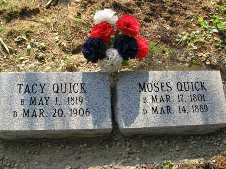 QUICK, MOSES - Vinton County, Ohio | MOSES QUICK - Ohio Gravestone Photos