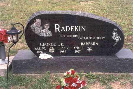 PENDLETON RADEKIN, BARBARA - Vinton County, Ohio | BARBARA PENDLETON RADEKIN - Ohio Gravestone Photos
