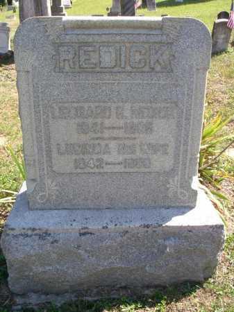 REDICK, LUCINDA - Vinton County, Ohio | LUCINDA REDICK - Ohio Gravestone Photos