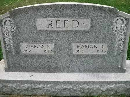 REED, MARION B. - Vinton County, Ohio | MARION B. REED - Ohio Gravestone Photos