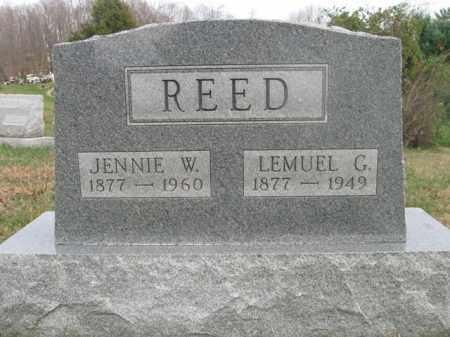 REED, JENNIE W. - Vinton County, Ohio | JENNIE W. REED - Ohio Gravestone Photos