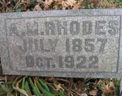 RHODES, AMANDER M. - Vinton County, Ohio | AMANDER M. RHODES - Ohio Gravestone Photos