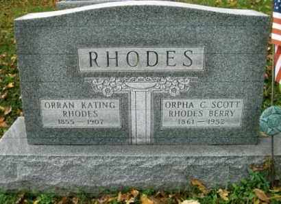 RHODES, ORRAN - Vinton County, Ohio | ORRAN RHODES - Ohio Gravestone Photos