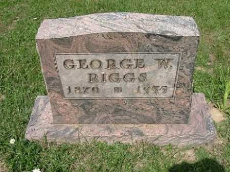 RIGGS, GEORGE W. - Vinton County, Ohio | GEORGE W. RIGGS - Ohio Gravestone Photos