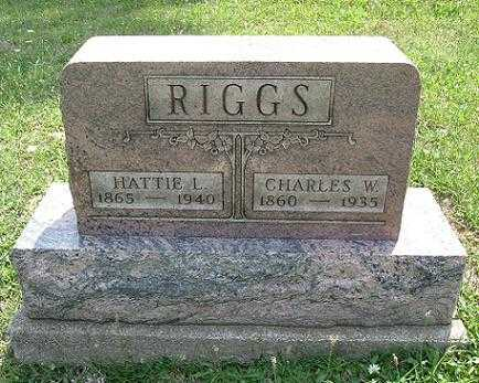 MITCHELL RIGGS, HATTIE L. - Vinton County, Ohio | HATTIE L. MITCHELL RIGGS - Ohio Gravestone Photos