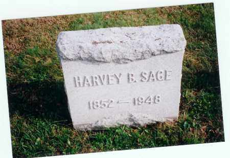 SAGE, HARVEY B. - Vinton County, Ohio | HARVEY B. SAGE - Ohio Gravestone Photos